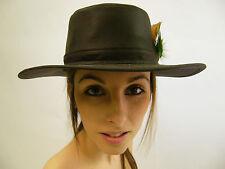 Nuevo Sombrero de algodón Cera australiana Bushman Pluma Verde Oliva Talla XS-XXL