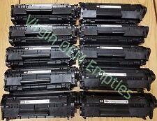10 Virgin Genuine Empty HP 12A Laser Toner Cartridges FREE SHIPPING Q2612A