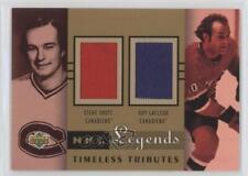 2001 Upper Deck Legends Timeless Tributes Jerseys #TT-SL Steve Shutt Guy Lafleur