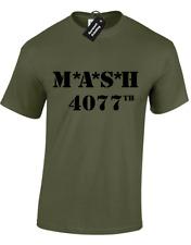 MASH MENS T-SHIRT 4077TH MARINES RETRO TV PROGRAMME ARMY FANCY DRESS MENS TOP