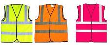 Child Hi Viz Reflective Waistcoat Vest 3 Colours, 3 Sizes Visibility kids Vest