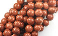 16 Inch Strand Goldstone Glass Round Beads 8MM