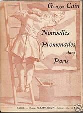 Livre ancien nouvelles promenades dans Paris Georges Cain book