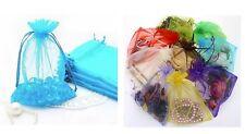 10 SACCHETTI ORGANZA regalo matrimonio bomboniere confetti bustine sacchettini