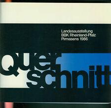 Querschnitt Landesausstellung BBK Rheinland-Pfalz Pirmasens 1986 Fotos Künstler