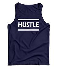 New Men's Hustle Hard Sports Tank Top Athletic USA Workout Gym T-Shirt