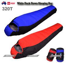 Mummy Sleeping Bag 1500g White Duck Down Waterproof Outdoor Hiking Camping -15℃