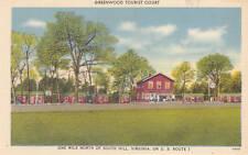 D7943 VA, South Hill Greenwood Tourist Court Postcard