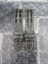 24mm PANERAI Grey Deployment Strap Gator Hornback Grain Leather Watch Band Pam