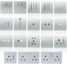Trendi Switch Silver Designer Light switch, Plug Sockets, Fused Spurs, TV, Phone