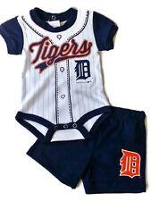 Detroit Tigers MLB Infant Double Header Bodysuit and Short Set
