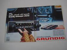 advertising Pubblicità 1976 AUTORADIO GRUNDIG
