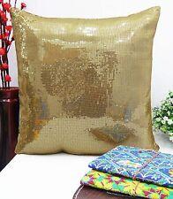 Décoratif brillant Sequin Glitter Housse d'oreiller Housse de coussin métallique