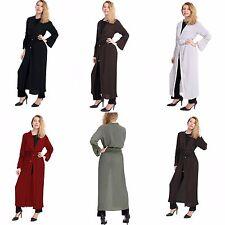 NUOVO da donna Increspatura pieghe lungo APRI Cardigan pizzo con cintura Kimono
