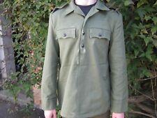 Bulgarian Army Shirt Lightweight Jacket Green Star Buttons Military Surplus