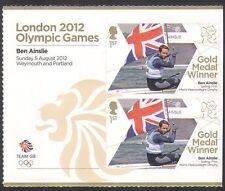 GB 2012 Olympics/Sports/Gold Medal Winners/Sailing/Ben Ainslie 2v + lbl  n35653a