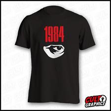 NEW 1984 George Orwell Black Tshirt - 5 Sizes- Big Brother Book Vintage Retro