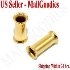 1112 Gold Double Flare Tunnels 6 Gauge 6G Ear Plugs 4mm