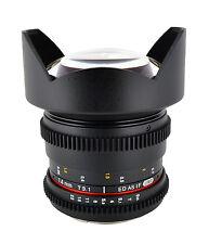 Rokinon 14mm T3.1 Cine Wide Angle Lens w/ De-clicked Aperture For Canon- CV14M-C