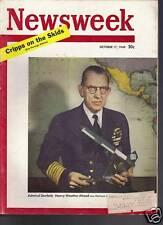 Newsweek Magazine Admiral Denfeld October 17, 1949