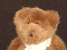 2001 RALPH LAUREN CROCHET WHITE SCARF BROWN TEDDY BEAR PLUSH STUFFED ANIMAL