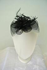 NEW Hair Clip fascinators Melbourne Cup Spring Races wedding fascinator black
