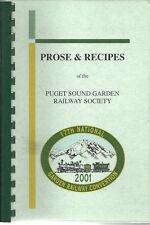 *PUGET SOUND WA 2001 COOK BOOK *GARDEN RAILWAY SOCIETY *PROSE & RECIPES *LOCAL