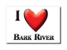 SOUVENIR USA - MICHIGAN FRIDGE MAGNET AMERICA I LOVE BARK RIVER (DELTA COUNTY)