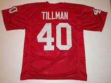 UNSIGNED CUSTOM Sewn Stitched Pat Tillman Red Jersey - M, L, XL, 2XL