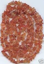 "Carnelian Semi-Precious Stone Bead Chips 32"" Strand"