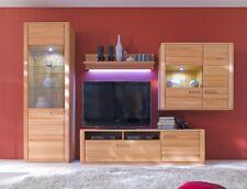 Wohnwand Kernbuche teilmassiv 4-teilig Medienwand TV-Wand Wohnzimmer Senta 22