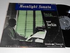 BEETHOVEN Rudolf Serkin Piano Moonlight Sonata No. 26 in E-flat Columbia ML 4432