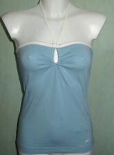 NEU TCM Tchibo Tube Top Neckholder Damen Shirt Mitch & Co Ocean Blue 36 40 Blau