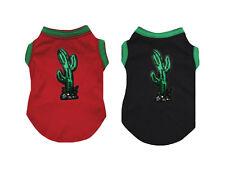 Sequins Cactus Cotton Top T-Shirt Pet Cat Dog Puppy One Piece Clothes