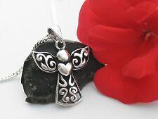 Damen Schmuck Schutzengel Engel mit Herz und Kette Anhänger Echt Silber 925 neu