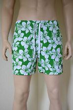 Abercrombie & Fitch Fish Hawk Cliff Swim Board Shorts Green Floral XL RRP £64