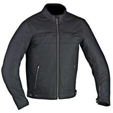 Ixon banlieue noir coton ciré moto étanche / SCOOTER Ce blouson