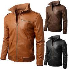 Giacca Giubbotto in Pelle Uomo Men Leather Jacket Veste Blouson Homme Cuir N3b