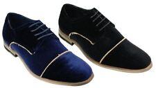 Chaussures homme velours sentir bleu noir lacé smart casual 5 6 7 8 9 10 11