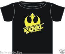 STAR Wars T-Shirt REBEL in formazione T-SHIRT 3-24 mesi NERO / BIANCO CLONE WARS