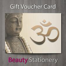 Gift Voucher Beauty Salon Blank Card Holistic Reiki Hairdressing A7 + Envelopes
