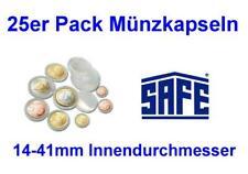 25er Pack Münzkapseln von SAFE / Ihrer Wahl / 14-41mm Innendurchmesser