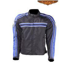 Biker Jacket Blue Men Sizes Motorcycle Textile Reflective Zip Coat Free Shipping