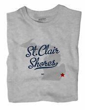 St.Clair Shores Michigan MI Mich T-Shirt MAP