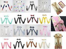 Suspender and Bow Tie Set for Baby Toddler Kids Boys Girls Children - USA Seller