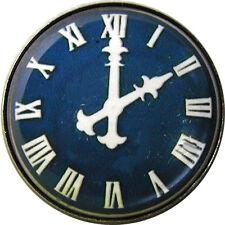 1 inch Crystal Dome Button Clock Face #26 Navy Roman