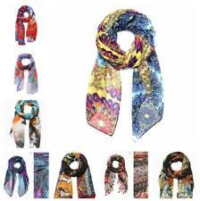 Women's Desigual Long Scarves Soft Cotton Wrap Shawl Chiffon Scarf Neck Stole