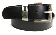 HOMBRE EN NEGRO 1.5'' Cinturón De Cuero Con Plateado Hebilla Casual Elegante De