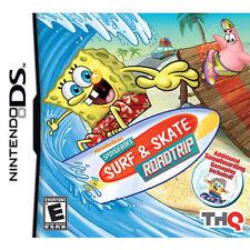 SpongeBob Surf and Skate Roadtrip NDS Video Game