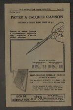 """PARIS (XVII°) PAPIER à CALQUER CANSON / Bureautique """"H. MORIN"""" Période 1920"""